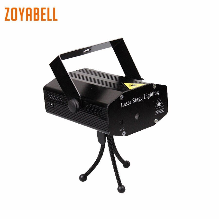 zoyabell Led <font><b>Disco</b></font> Stage Party Light Red Green Magic Stage Sound Control Laser Club Lamp Projector Lighting Holiday Decorations