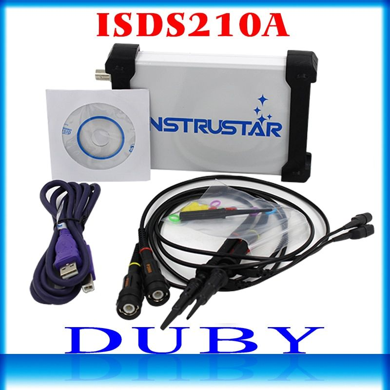 ISDS210A PC-Based USB Portable digital Oscilloscope 2 Channels 40M 100MS/s FFT Analyzer
