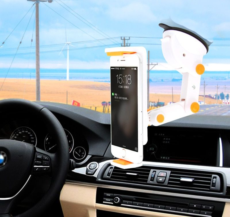 Dashboard Suction Tablet GPS Mobile Phone Car Holders Adjustable Foldable Mounts Stands For Huawei Ascend W2 Y520 Y221 G620S