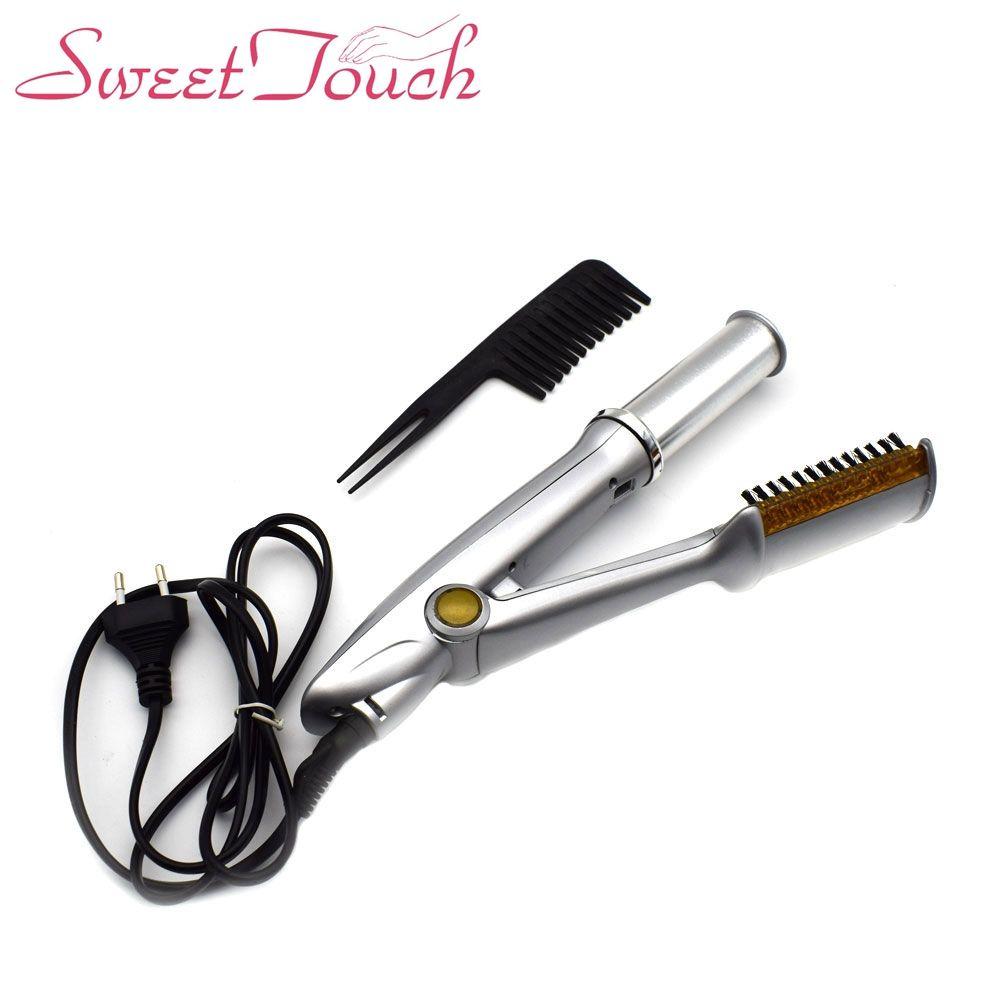 Sweettouch Ceramic Comb Curling Iron Hair Curler Roller Straightener Straightening Iron Brush Hair Tools