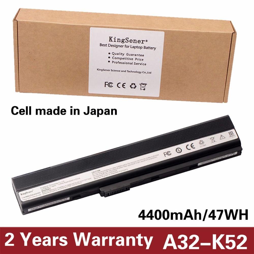 KingSener Japonais Cellulaire A32-K52 Batterie pour ASUS A52 A52F A52J K52 K52D K52DR K52F K52J K52JC K52JE K52N A41-K52 A31-K52 A42-K52