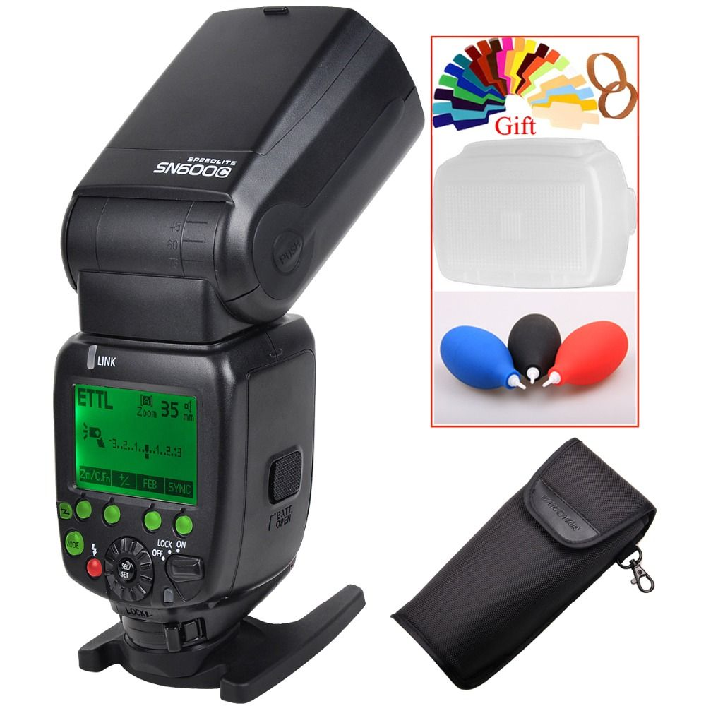 SHANNY SN600C HSS 1/8000S On-camera TTL GN60 Flashgun Flash Speedlite For Canon 760D D750D 700D 650D 600D 70D 60D 7D 6D 100D 5D