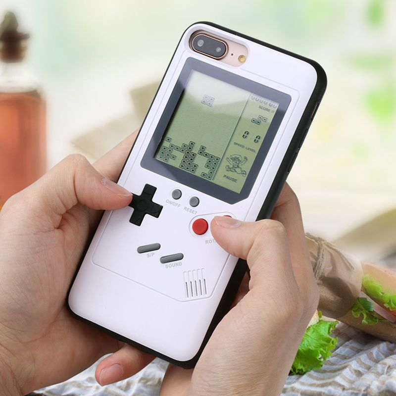 Ninetendo Tetris Gameboy Phone Case For iPhone 6 6S Plus Case Soft Edge Game Console Back cover For iPhone X 7 8 Plus case