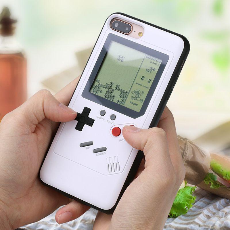 Ninetendo Tetris Gameboy Pour iPhone 6 6 s Plus Étui Bord Doux Jeu Console couverture Arrière Pour iPhone X 7 8 Plus étui