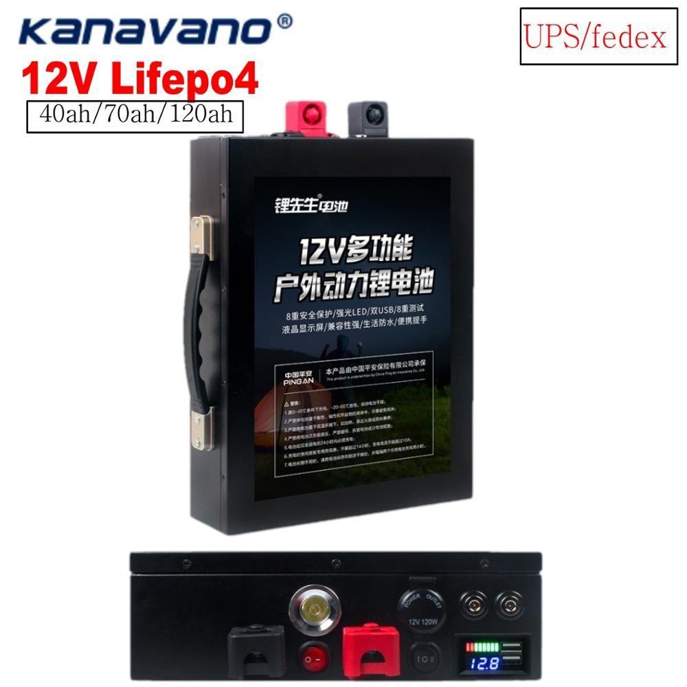 12 V lithium-batterie pack LiFePo4 batterie lithium-eisen phosphat 12,8 V LiFePo4 40ah 120ah mit BMS brett + senden ladegerät UPS