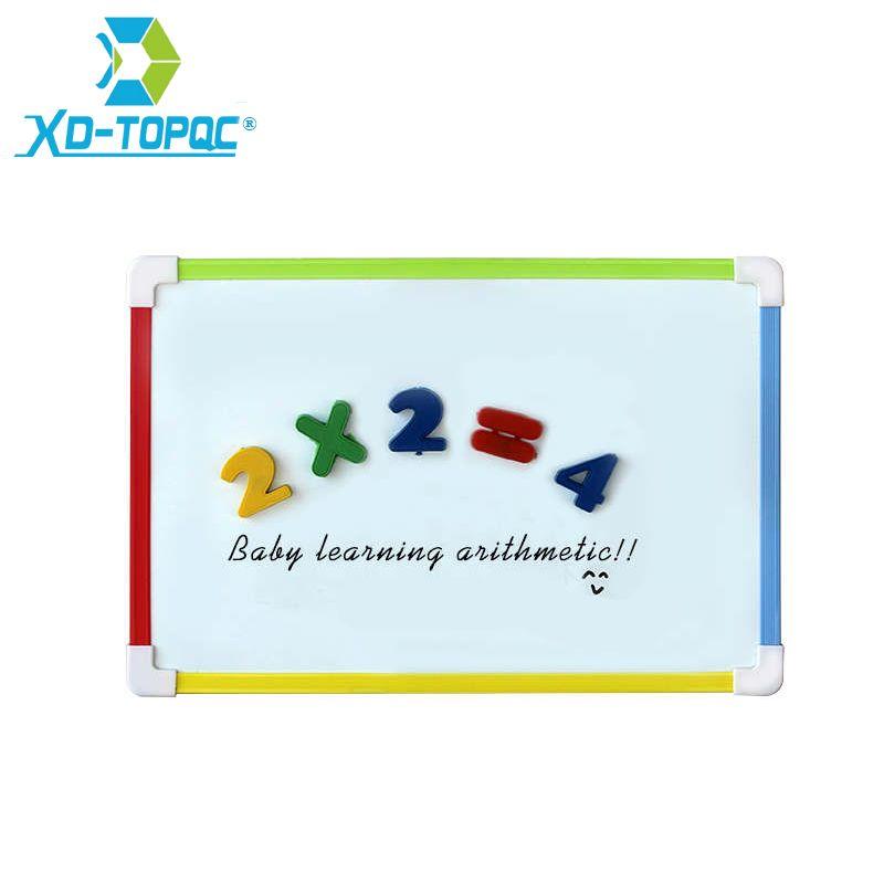 Tableau blanc de gomme sèche magnétique de tableau blanc d'enfants de XINDI avec les aimants gratuits de nombre de cadeaux pour les tableaux de Message de mémo d'enfants d'âge préscolaire