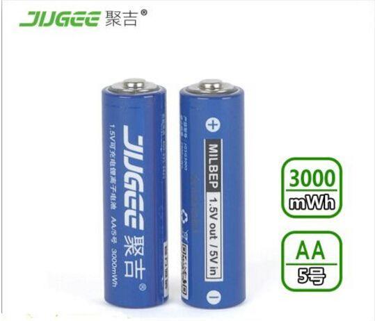 2pcs 1.5 v AA lifepo4 lithium ionen batteries <font><b>14500</b></font> JUGEE 3000mWh rechargeable li-ion Li-polymer Li-Po battery apply Toys, etc