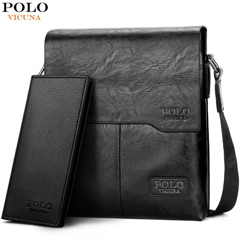 VICUNA POLO Men Shoulder Bag Classic Brand Men Bag Vintage Style Casual Men <font><b>Messenger</b></font> Bags Promotion Crossbody Bag Male Hot Sell