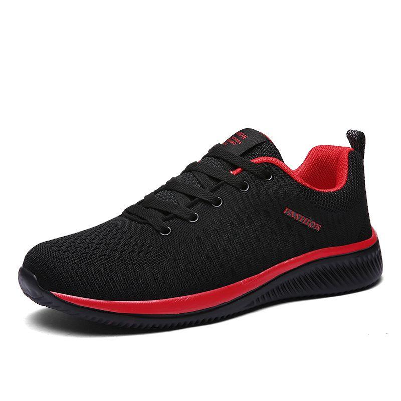 Nouveau Maille Hommes chaussures décontractées Lac-up chaussures pour hommes Léger Confortable Respirant chaussures de marche Tenis Feminino Zapatos