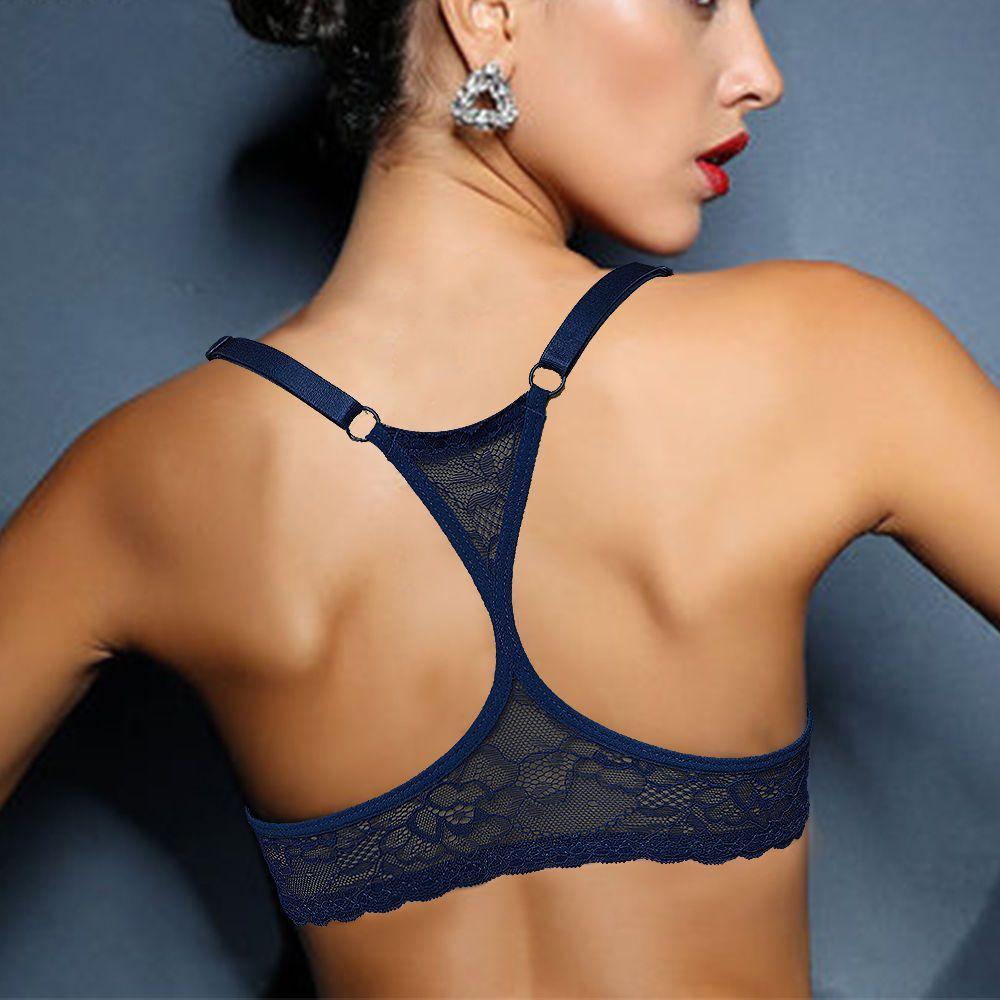 Top chaud soutien-gorge dentelle Bralette y-line BH sous-vêtements Sexy Lingerie femmes fille cadeau grande taille 70 75 80 85 90 95 100 A B C D DD