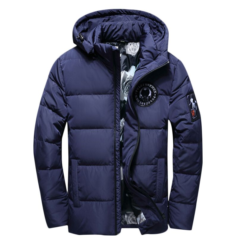 2018 Fashion Winter Jackets Thick Warm Men Solid Jacket High Quality Casual Fur Collar Hooded Jacket Outerwear Men Parkas 3XL