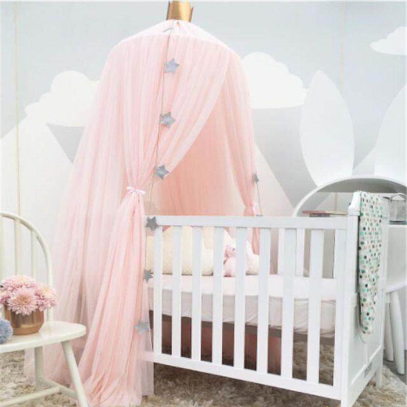 Дворец Стиль маленьких Сетки для колыбелей кровать мантии кровать Сетки для автомобиля куполообразной палатки Детская комната Декор младе...