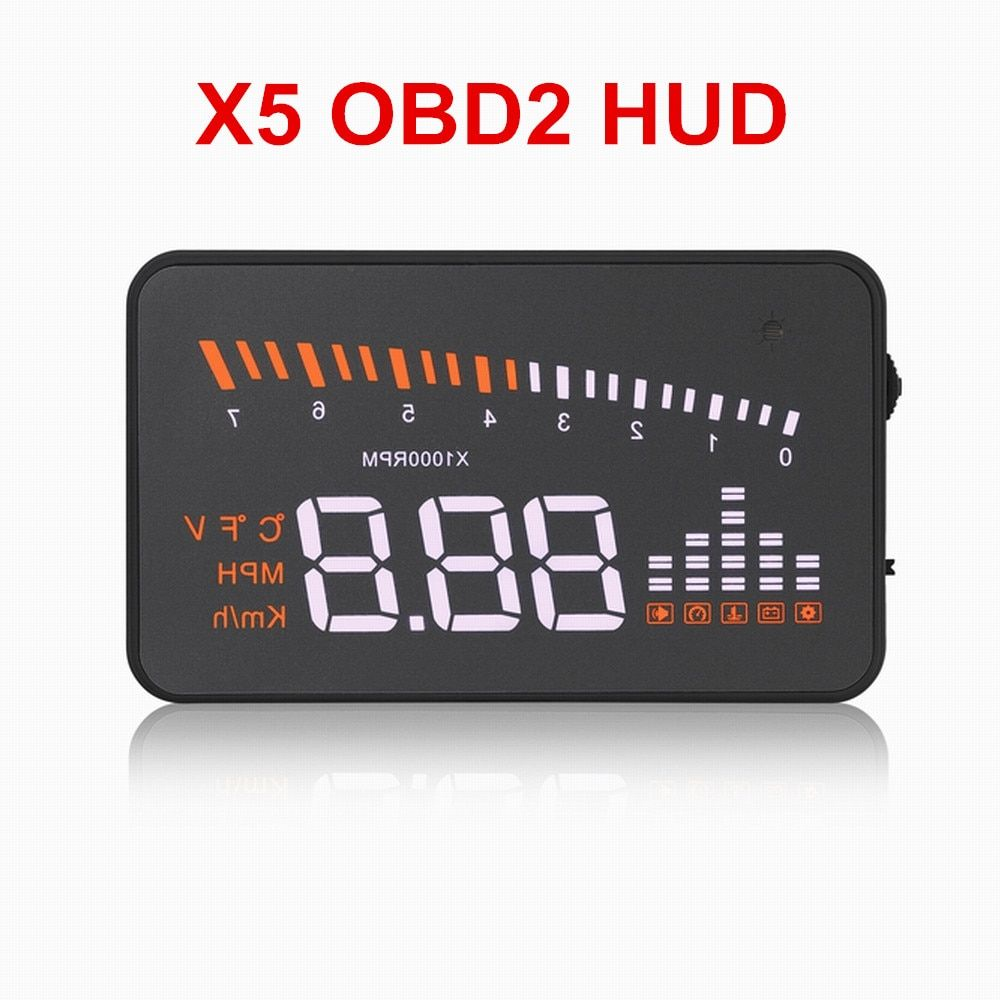 Universal X5 HUD Head Up Display Car Styling Speed Alarm Car Hub Windshield Support OBD2 Cars After 2003 Free Shipping