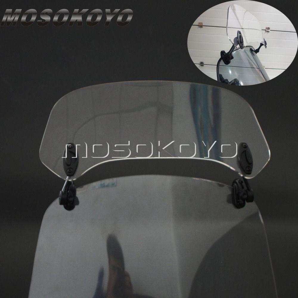 Transparent Motorcycle Risen Adjustable Wind Screen Windshield Spoiler Air Deflector for Honda BMW F800 R1200GS KAWASAKI YAMAHA