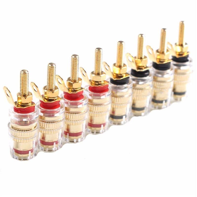 Mayitr 8 pièces 42 MM plaqué or haut-parleur Terminal de liaison poste amplificateur basse fréquence connecteur longue prise pour 4mm fiches banane