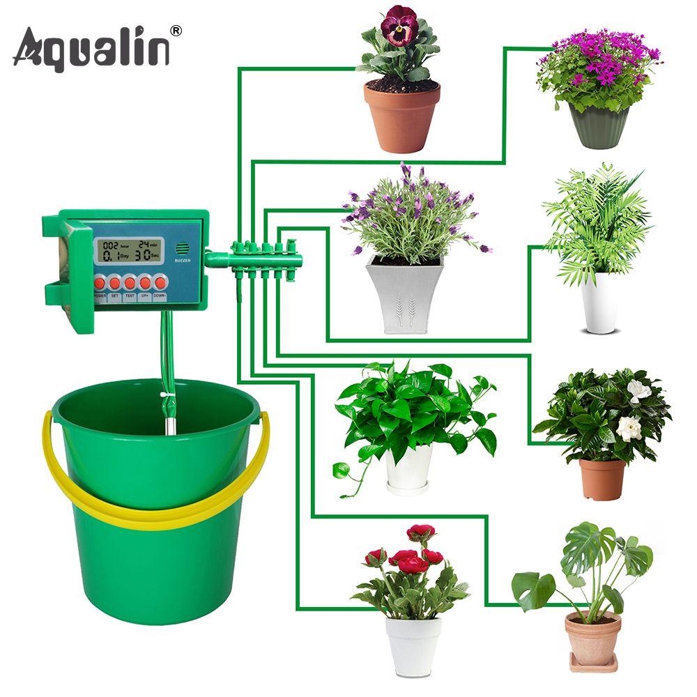 Arroseur automatique de système de Kits d'arrosage par égouttement à la maison Micro avec le contrôleur intelligent pour le jardin, utilisation d'intérieur de bonsaï #22018