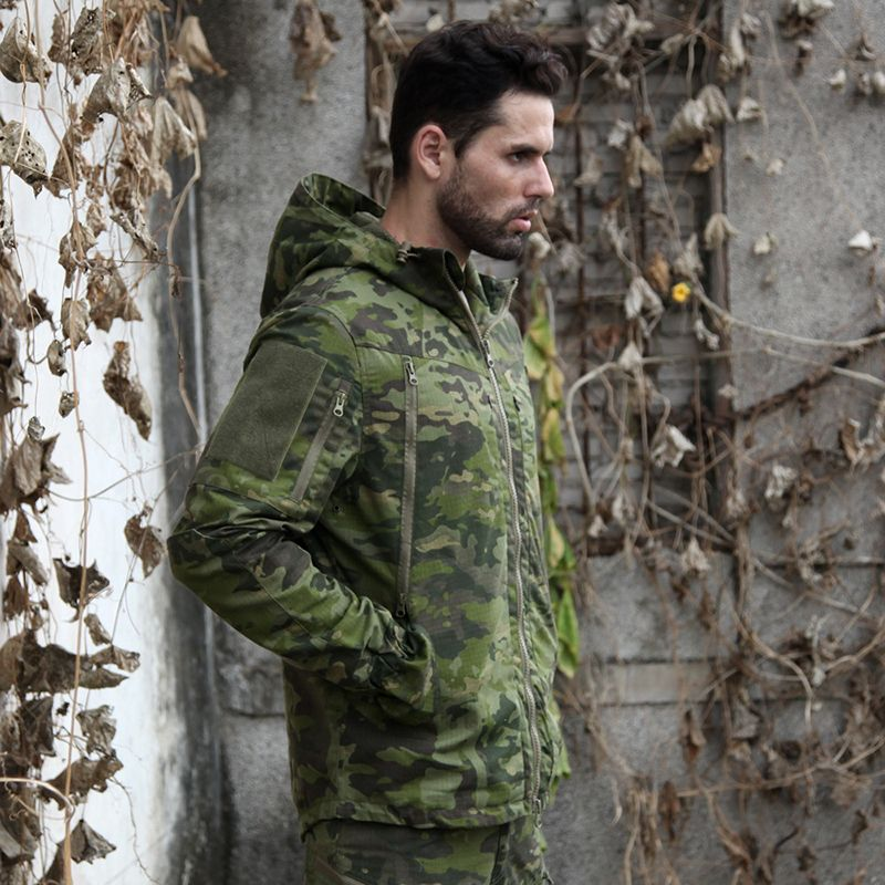 2018 Multicam Tropic Camo Hunting Jacket MTP Ripstop Field Hunting Jakcet MTP for Outdoor Hunting Jacket with Hoody