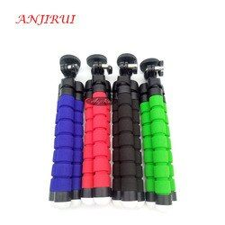 ANJIRUI Mini flexible portable sponge Octopus Tripod Stand Flexible for GoPro SLR DSLR DV Camera Small Camera phone Holder Stand