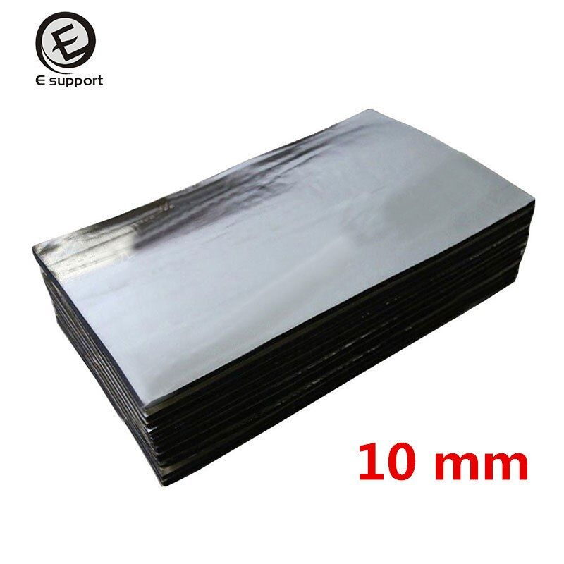 6 Sheets/lot Car Sound Proofing Deadening Insulation Heat 10mm Foam Glass Fibre Auto Interior Accessories Acoustic Soundproofing