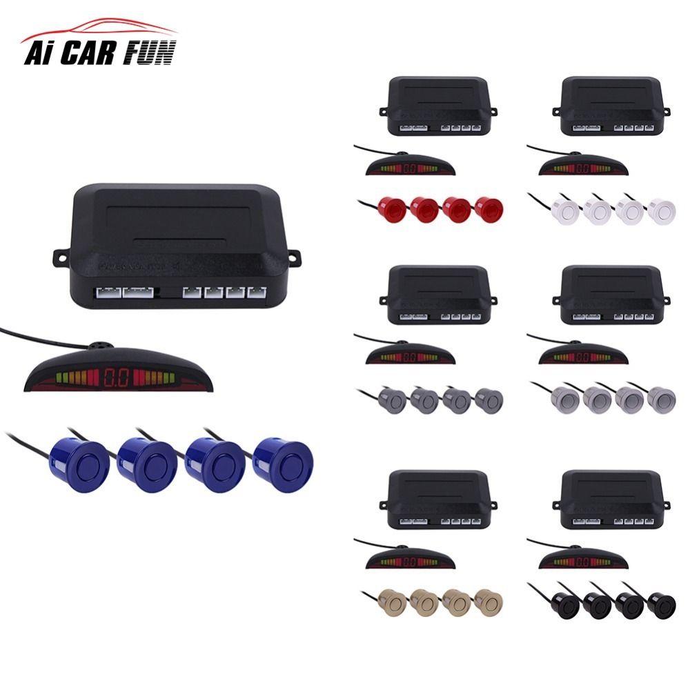 Hot selling Sensor Kit Car Auto LED Display 4 Sensors For All Cars Reverse Assistance Backup Radar Monitor Parking System 1 Set
