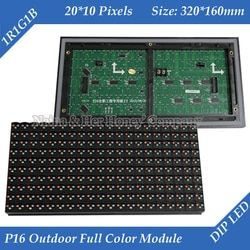P16 Outdoor RGB Full Color Window Text LED Display Modul 320*160 Mm 20*10 Piksel