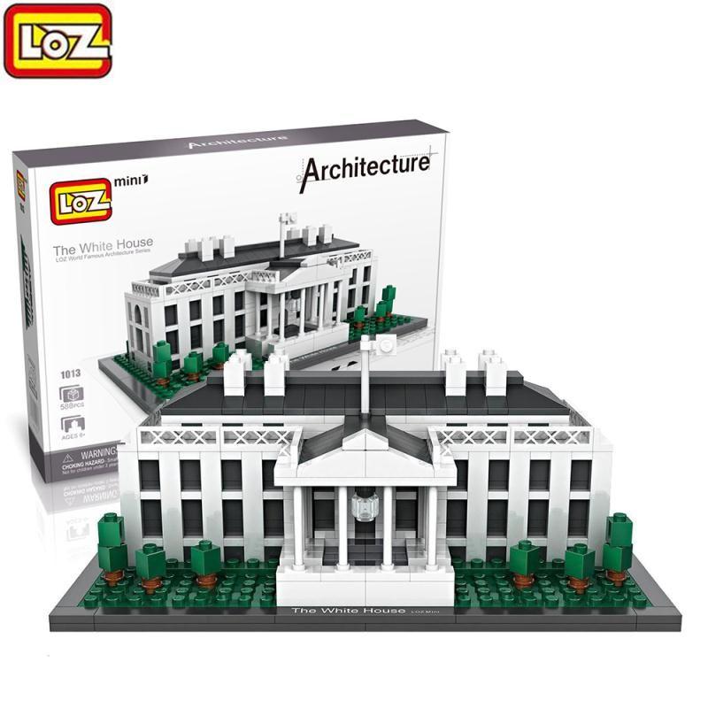 Президента Америки Белый дом LoZ мини Building Block архитектура Модель Строительный кирпич комплекты раннее образовательные подарки игрушки