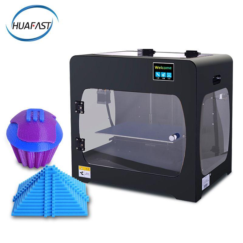 HUAFAST HS-322 Dual Extruder 3D Drucker große Druck Größe für Vollständig Geschlossene Kammer filament brechen erkennung impresora 3d