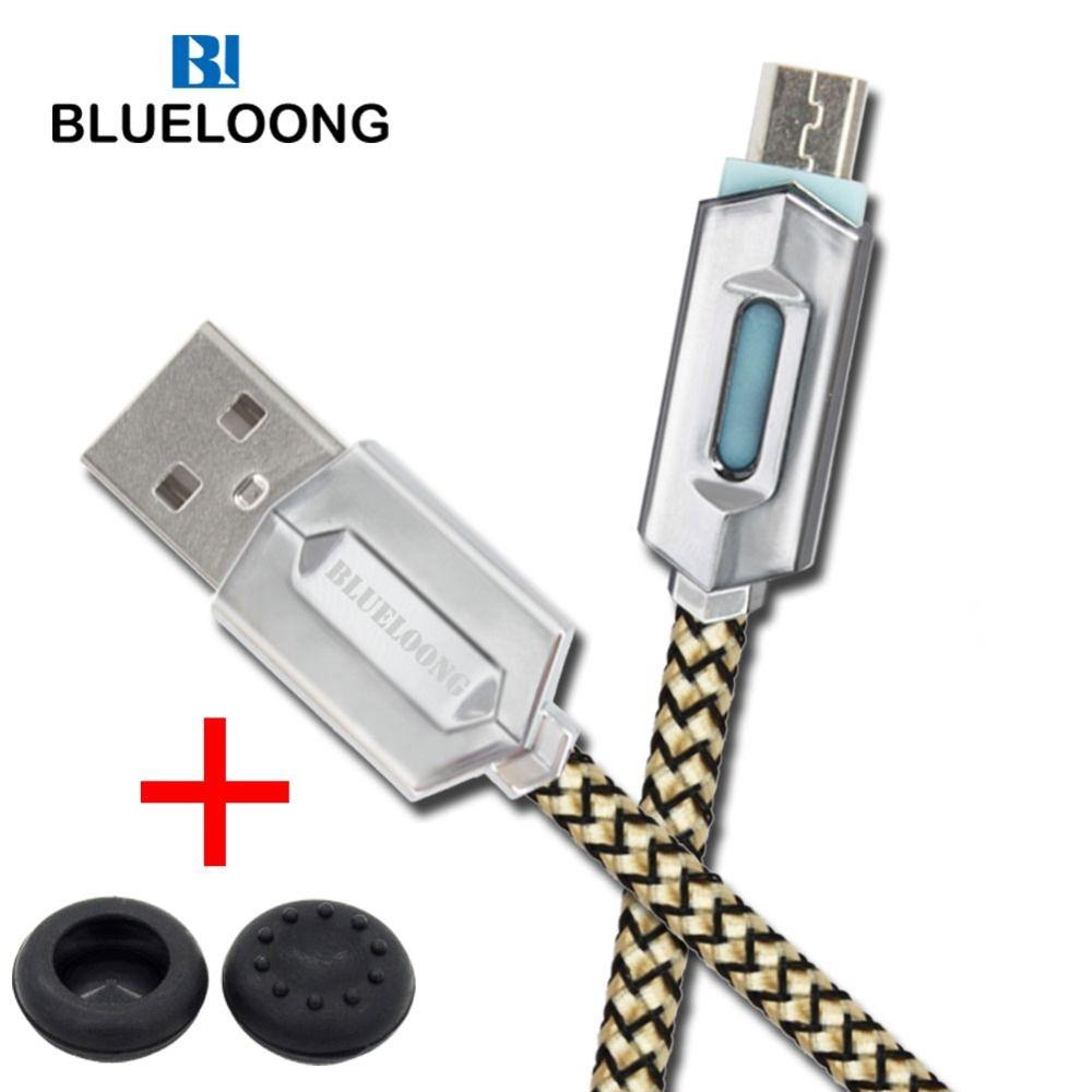 Blueloong 3 m Tressé Micro USB Câble Chargeur Rapide PS4 De Charge câble pour PS4 Contrôleur et XBOX UN Contrôleur 3 M Jouer un