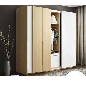 0129TB007 Moderne Europe bois assemblage du panneau personnalisé fait accrocher porte coulissante armoire placard garderobe avec dressing miroir