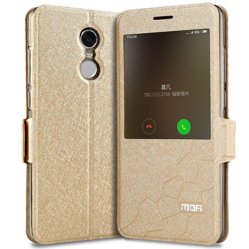 MOFI Flip Étui En Cuir pour Xiaomi Redmi Note 4X PU Étui En Cuir avec Support Fonction pour Hongmi Note 4X5.5