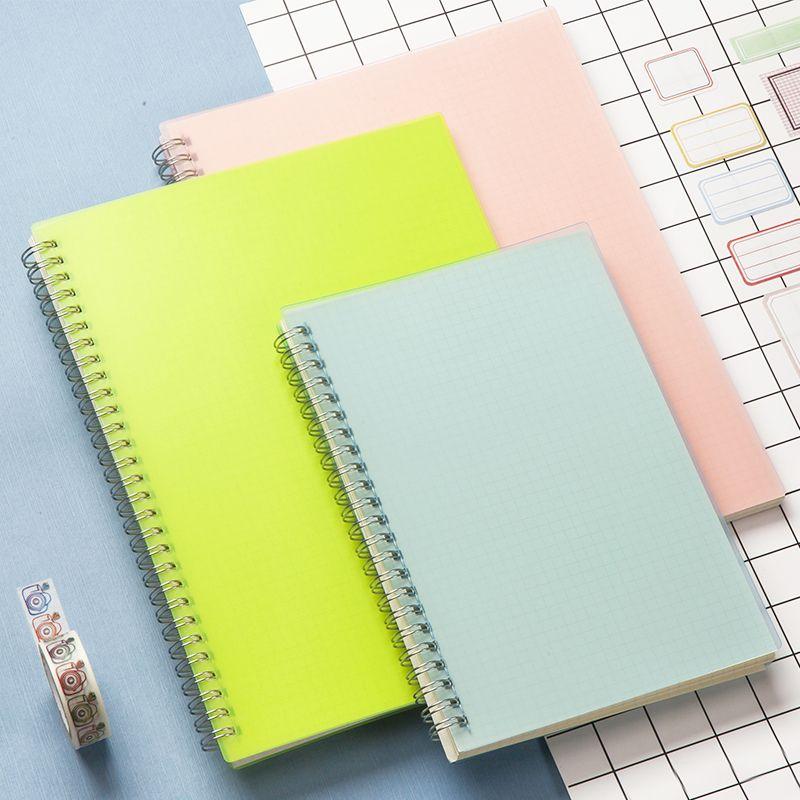 A5 couleur PP couverture Dot/grille/blanc/ligne bobine carnet de croquis pour peinture dessin enfants