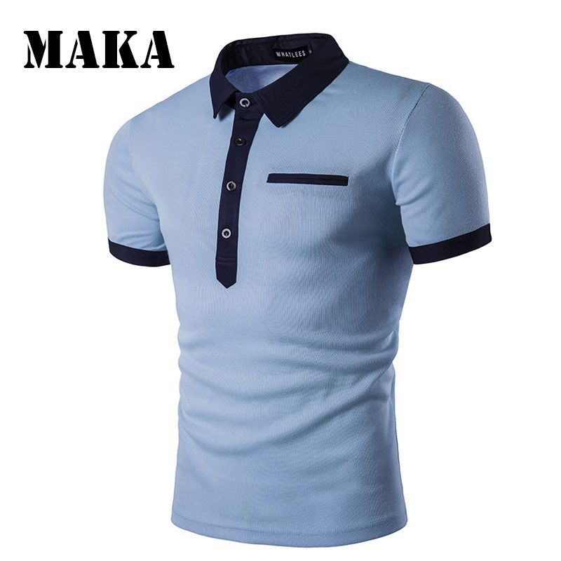 Polo Shirt Men Casual Shirt Man Polos Short Sleeve Cotton Polo Shirts Male Solid Camisa Polos Breathable Brand Clothing Tops B36