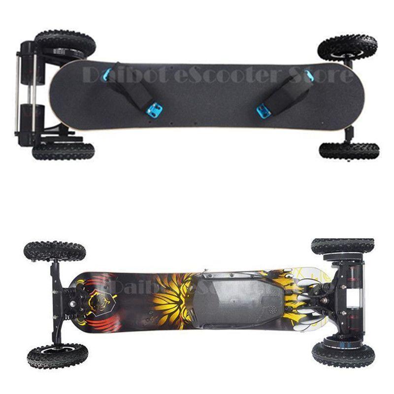 Keine steuer nach EU/RU Vier Rad Elektrisches Skateboard Dual Motor 1650 Watt 11000 mAh Elektrische Longboard Hoverboard Roller Fernbedienung