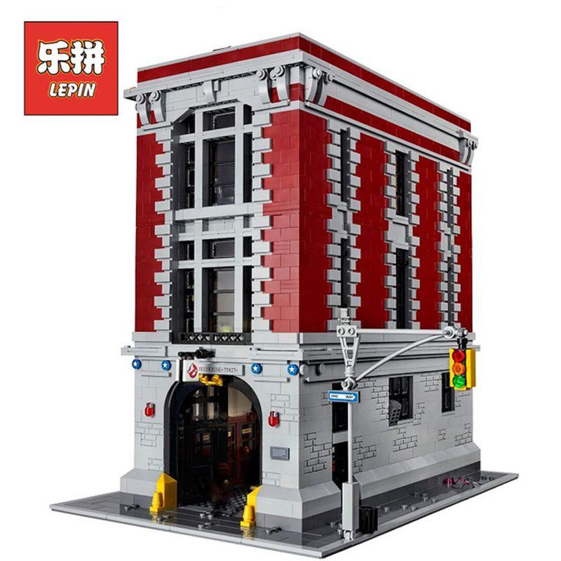 Lepin Sets 16001 4705Pcs Ghostbusters Figures Firehouse Headquarters Model Building Blocks Bricks Toys Compatible Legoing 75827