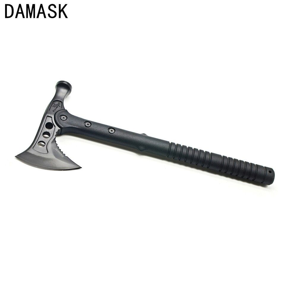 New Damask High Carbon Steel Hammer Wrench Axe Fire Ice Army Tactical Tomahawk Outdoor <font><b>Practical</b></font> Axe Hand Tool Free Shipping