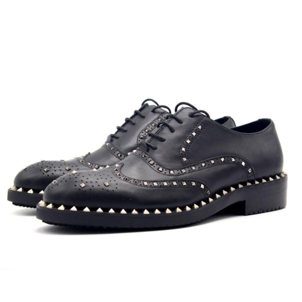 Autumn and winter oxford shoes for men Bullock rivets handmade cattle production of men's shoes zapatos hombre vestir