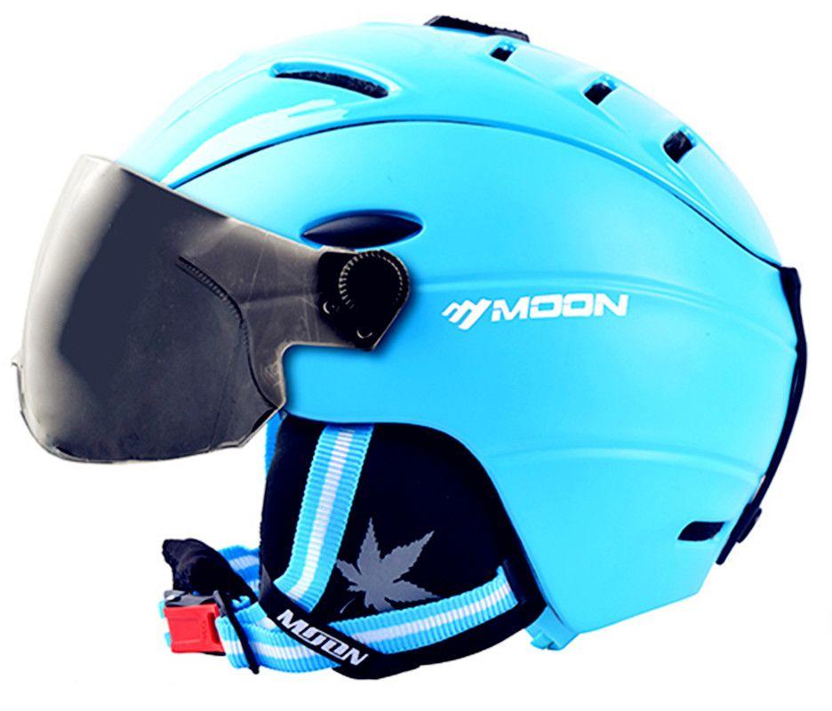 MOND Skihelm mit brille Integral geformten PC + EPS Ski Helm Outdoor Ski Snowboard Skateboard Helm S-XL 4 farben