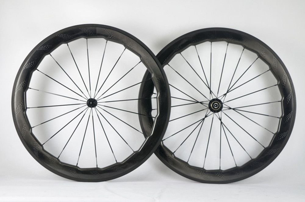 700C cabon road dimple wheels nsw 454customized 58mm 25mm width clincher bike wheels Road bicycle cycling racing wheelset