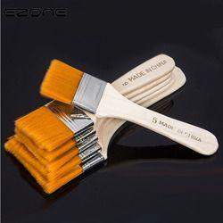 EZONE Nylon Hair Painting Brush Oil Watercolor Water Powder Propylene Acrylic Differeent Size Paint Brushes School Art Supply