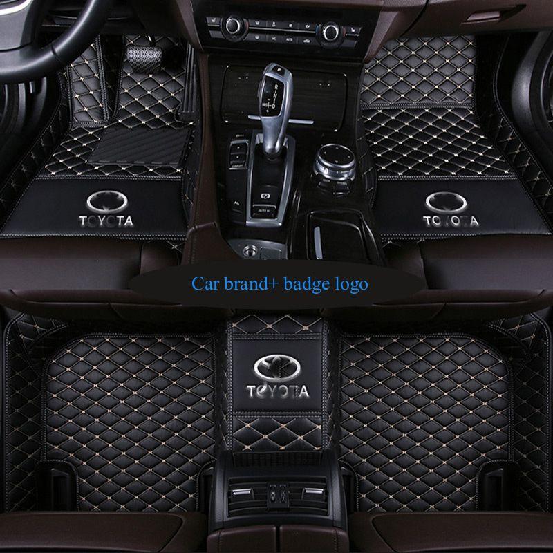 Car floor mats fit Audi logo Q3 Q5 Q7 A1 A3 A4 A6LA7 A8 AVANT S3 S5 S6 S7 S8 R8 RS5 RS6 RS7 TT TTS PU-leathe Carpet floor liner
