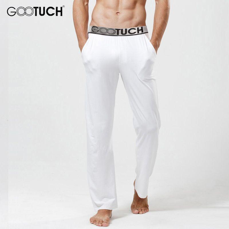 Men's Modal Pajamas Pants <font><b>Comfortable</b></font> Male Long Johns Man See Through Sleep Bottoms 5XL 6XL Everyday Cuecas Underwear G-3007