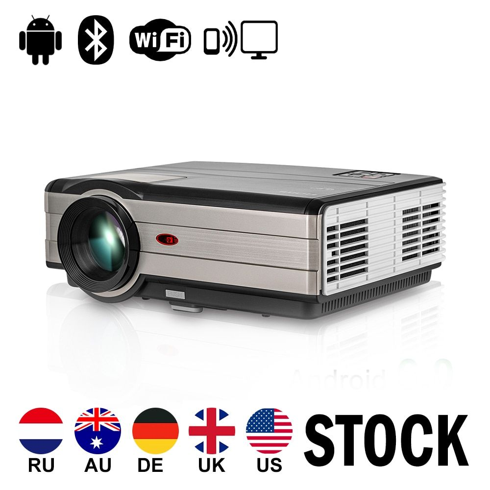 CAIWEI Digital LCD LED Projector Android WiFi Proyector Home Theater Beamer Wireless Sync HD 1080P Movie Audio Video TV HDMI