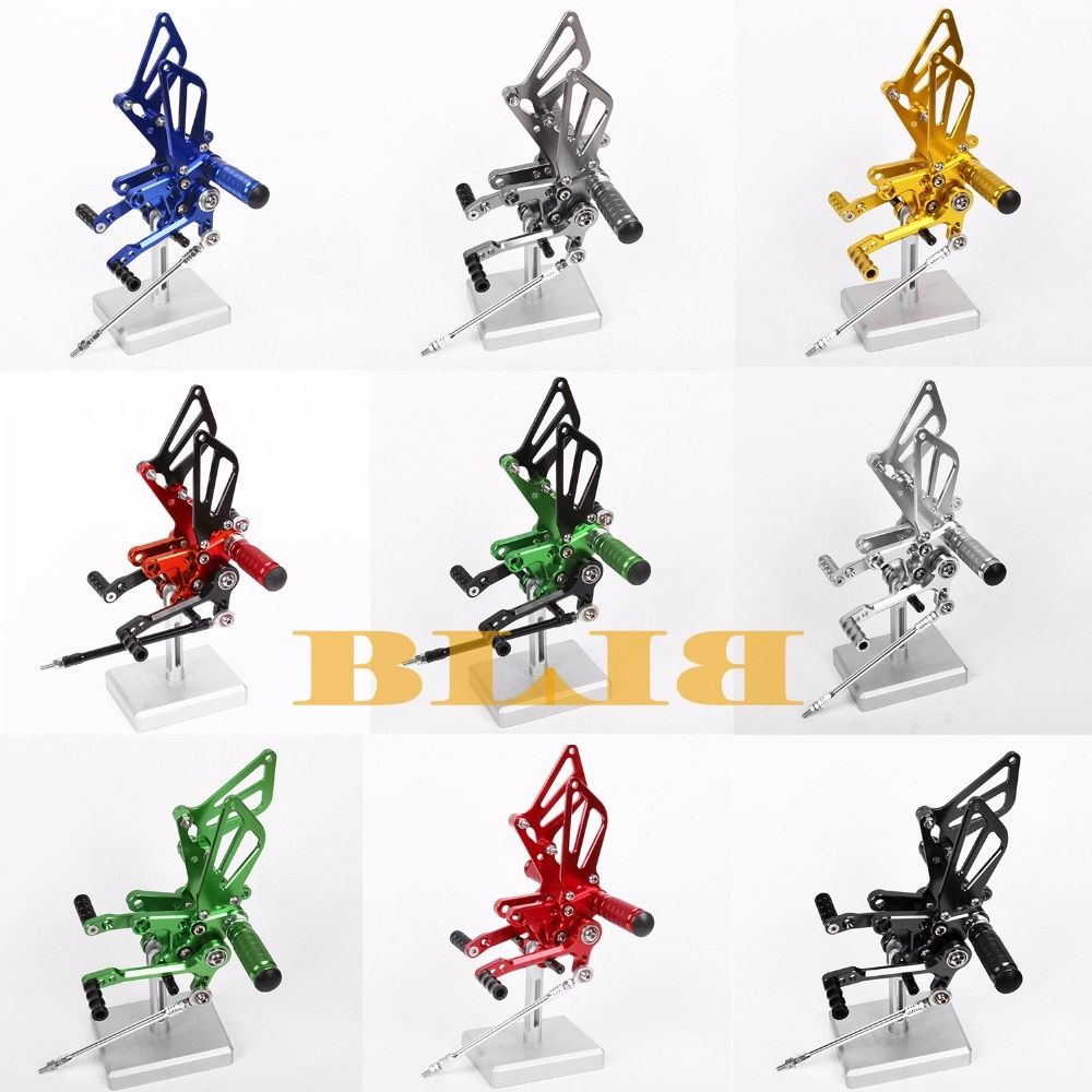 8 Colors CNC Rearsets For Suzuki GSXR 1000 2000 - 2004 Rear Set Motorcycle Adjustable Foot Stakes Pegs Pedal 2003 2002 2001 Rest