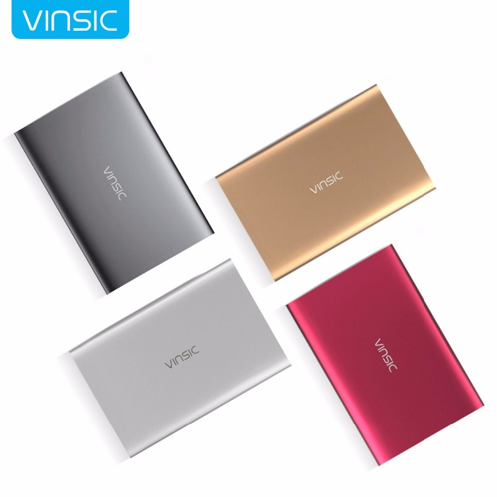Vinsic M50000 Portable Power Bank 20000 mAh Externe Chargeur de Batterie Ultra mince Double USB pour iPone X 8 8 Plus Xiaomi Samsung
