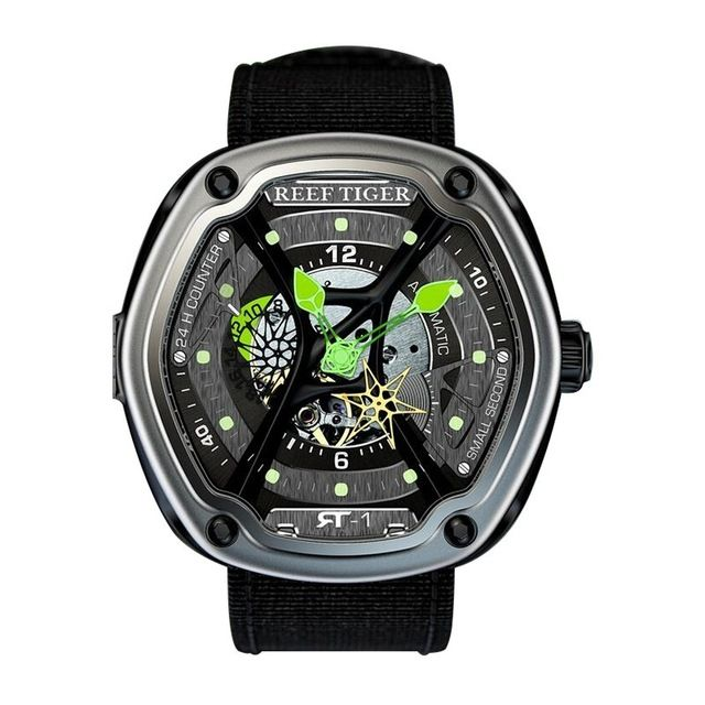 Reef Tiger Aurora Serier RGA90S7 Men Casual Fashion Concept Automatic Mechanical Wrist Watch