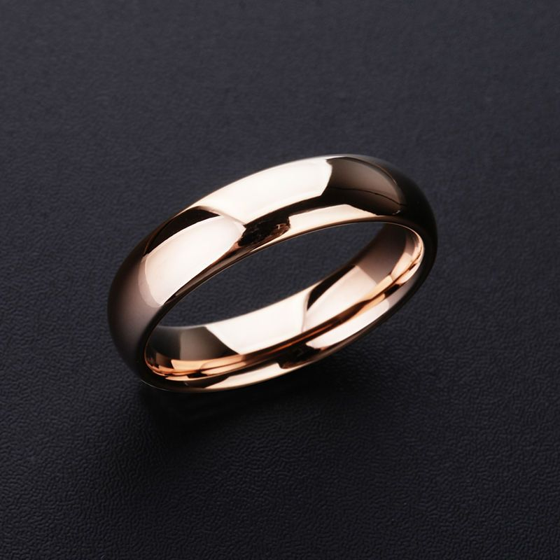 2018 New High Quality Rose Gold Tone Tungsten Wedding Rings <font><b>3.5mm</b></font>/5mm Width Dome Band for Man and Woman Free Shipping