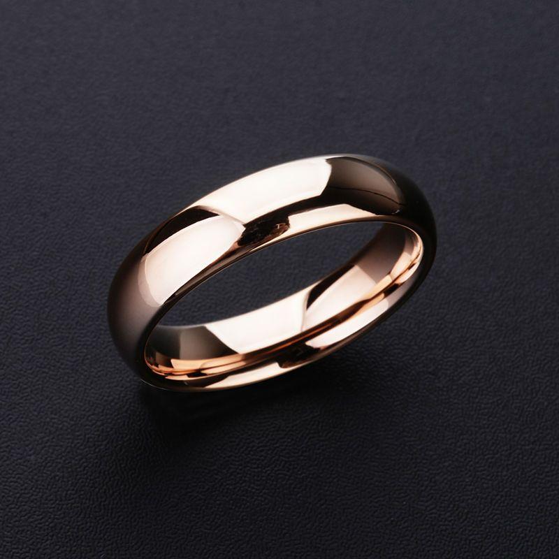 2019 nouvelle haute qualité 1 pièces Rose or ton tungstène anneaux de mariage 3.5mm/5mm largeur dôme bande pour homme et femme livraison gratuite