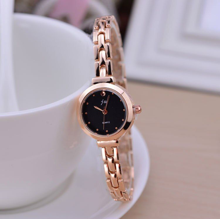 Moda Rosa pulsera de oro relojes mujeres Top marca de lujo señoras reloj de cuarzo reloj Relogio feminino montre Femme hodinky