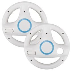 2x Steering Kart Racing Wheel for Nintendo for Wii Remote Control Game Excite Truck Excitebike For wii console Racing game gift