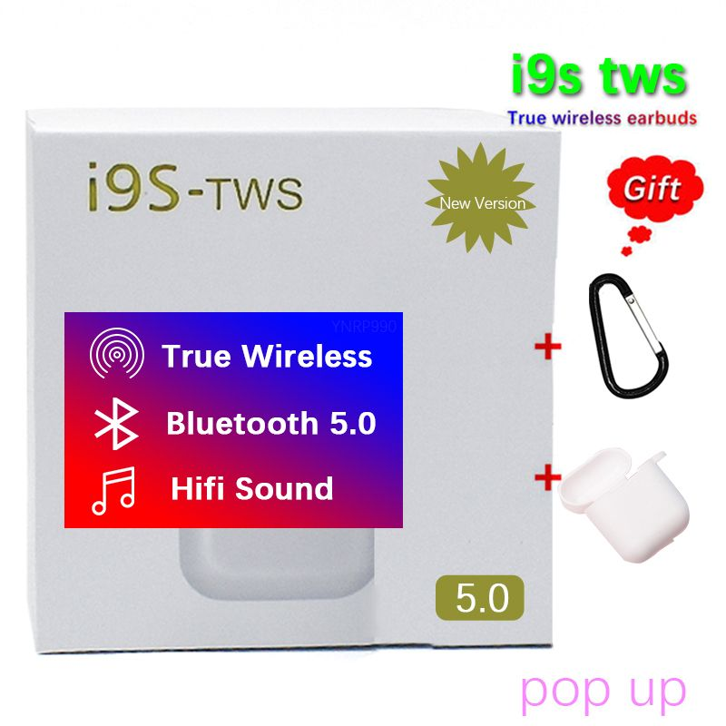 I9S TWS Wireless Earphone Portable 5.0 Bluetooth Headset Earbuds Pop up not w1 chip audifonos para celular pk xy pods elari